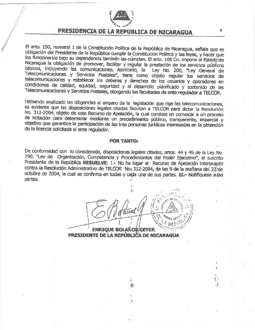 Sin Lugar Recurso de Apelacion por Ex Presidente Enrique Bolaños-001