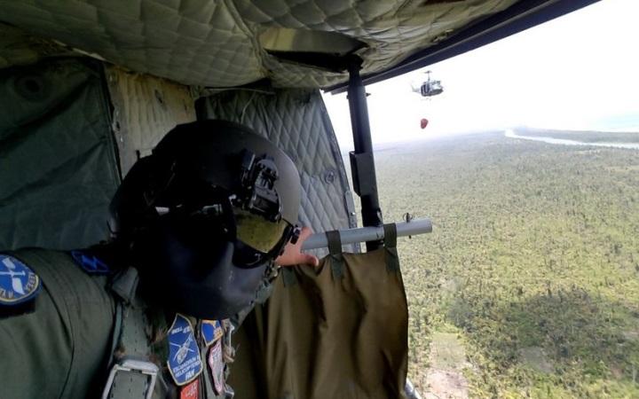 Héroes del aire que ayudaron a extinguir incendio en Reserva IndioMaíz
