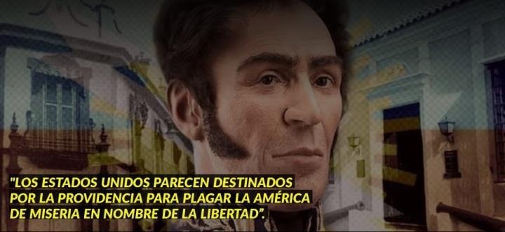 SIMÓN BOLÍVAR COMPRENDIÓ LA ESENCIA DE LA INFAME POLÍTICAYANQUI