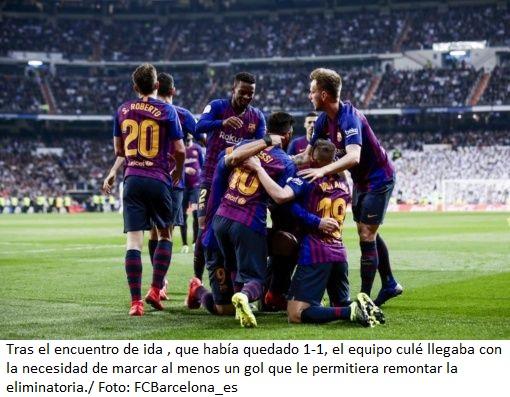Barcelona golea a Real Madrid y avanza a final de Copa delRey