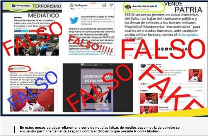 ¿QUÉ FAKE NEWS CIRCULAN EN LAS REDES SOCIALES SOBREVENEZUELA?