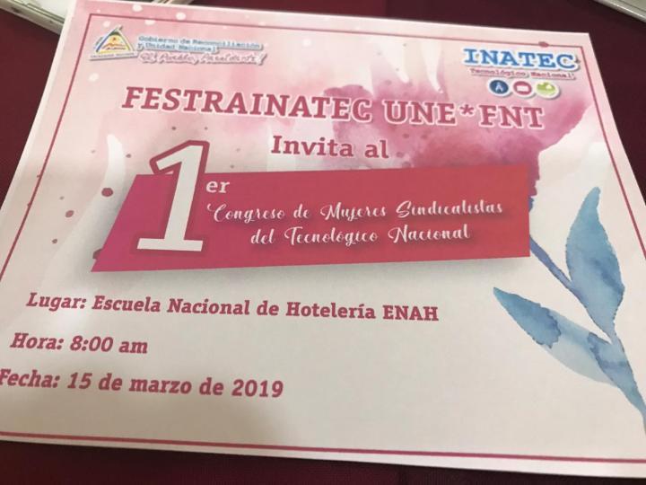 1er Congreso FESTRAINATEC UNEFNT!!