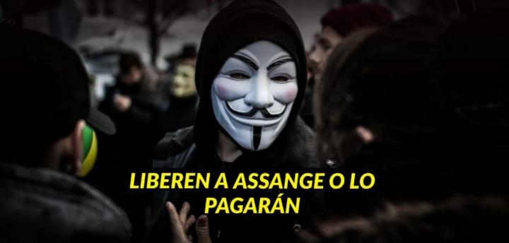 """ANONYMOUS AMENAZA A ESTADOS UNIDOS E INGLATERRA: """"LIBEREN A ASSANGE O LO PAGARÁN"""" #AmoryPazNicaragua #Nicaragua40Revolucion #ElTayacanVencedor #NiUnPasoAtras #NicaraguaLinda #NicaraguaTrabajoyPaz #NicaraguaQuierePaz #NicaraguaSandinoSiempre #FeFamiliayComunidad"""