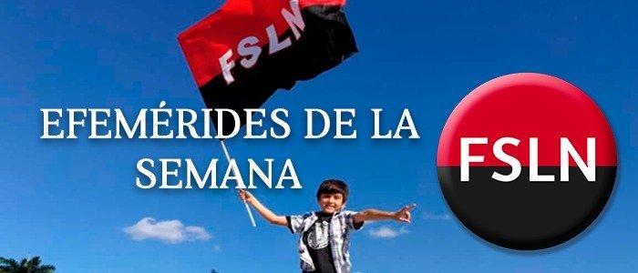 EFEMÉRIDES DE LA SEMANA DEL 12 AL 18 DE NOVIEMBRE; #OCTUBREORGULLONICA #TEAMONICARAGUA #SOMOCISMONUNCAMAS #FNTNNIUNPASOATRAS #ELTAYACANVENCEDOR