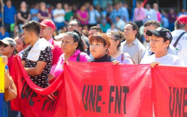 Trabajadores del Poder Judicial repudian golpe de estado perpetrado en Bolivía; #SOMOCISMONUNCAMAS #FNTNNIUNPASOATRAS #ELTAYACANVENCEDOR