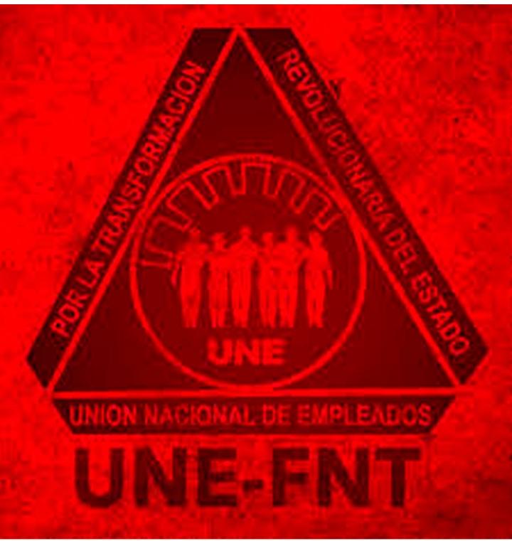 UNION NACIONAL DE EMPLEADOS (UNE-FNT) SE SOLIDARIZA CON EL PUEBLO BOLIVARIANO; #SOMOCISMONUNCAMAS #FNTNNIUNPASOATRAS #ELTAYACANVENCEDOR
